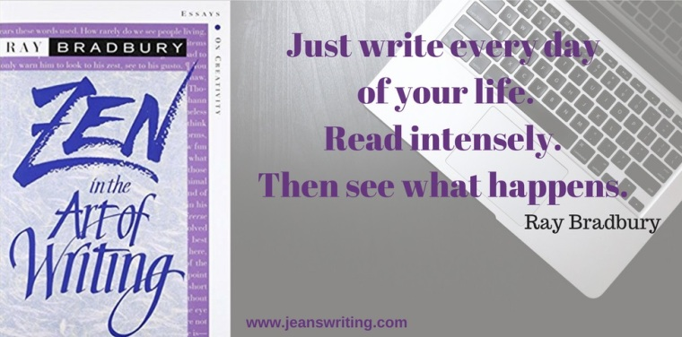 quote by Ray Bradbury from Jean's Writing