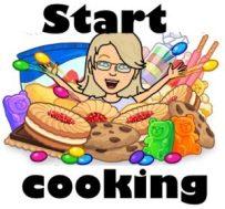 Bitmoji image Jean cooking - Jean's Writing