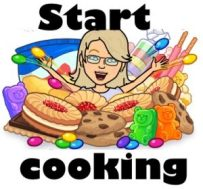 Bitmoji image Jean cooking - Jean's Writing