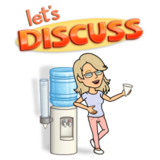 Bitmoji image - Let's Discuss, Jean Cogdell