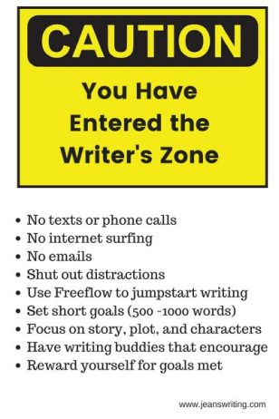 Caution you have entered the Writer's Zone - Jean's Writing