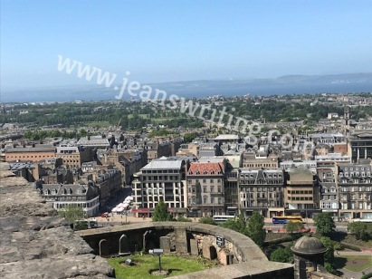 Birds eye view of Edinburgh, Scotland