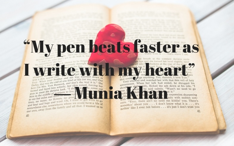 My pen beats faster as I write with my heart - Muia Khan