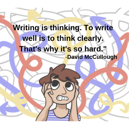 David McCullough quote - Writing is thinking.