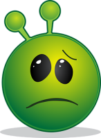 Green sickly emoticon
