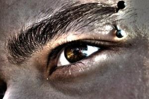 pierced eyebrow