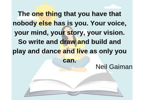 Neil Gaiman quote about writing your story