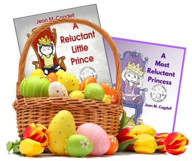 Easter basket with books