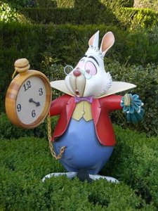 Rabbit from Alice in Wonderland with watch