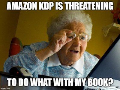 Amazon KDP threatening letter